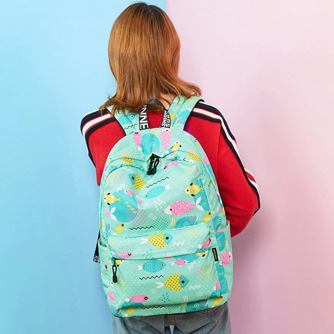 ZLHLL Fashion Backpack Waterproof School Backpack for Girls Middle School Cute Bookbag Daypack for Women