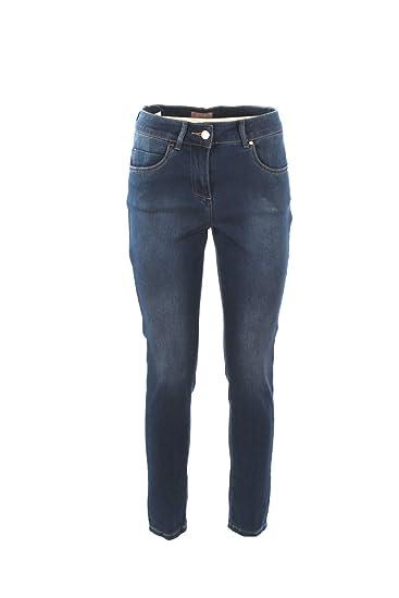 462f5b292f6dbd VIRGINIA BLU Jeans Donna 44 Denim Mentha Primavera Estate 2019:  Amazon.co.uk: Clothing