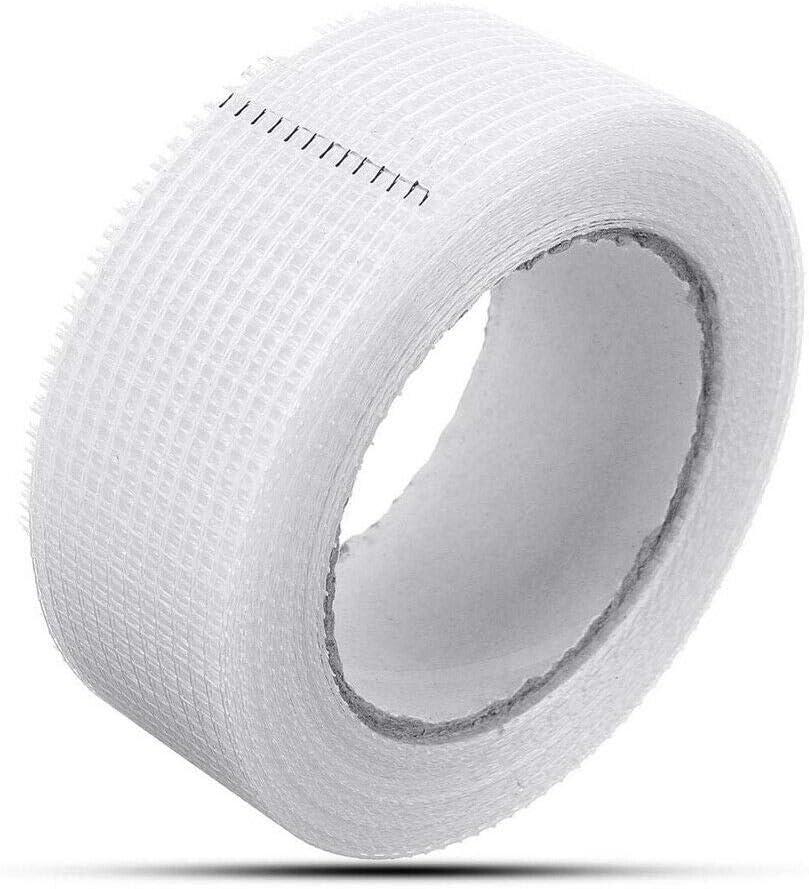 wei/ß TOOLSTAR Mesh Tape selbstklebendes Fiberglas-Tuchband Fasergewebe Fugenband f/ür Trockenbau-Reparatur