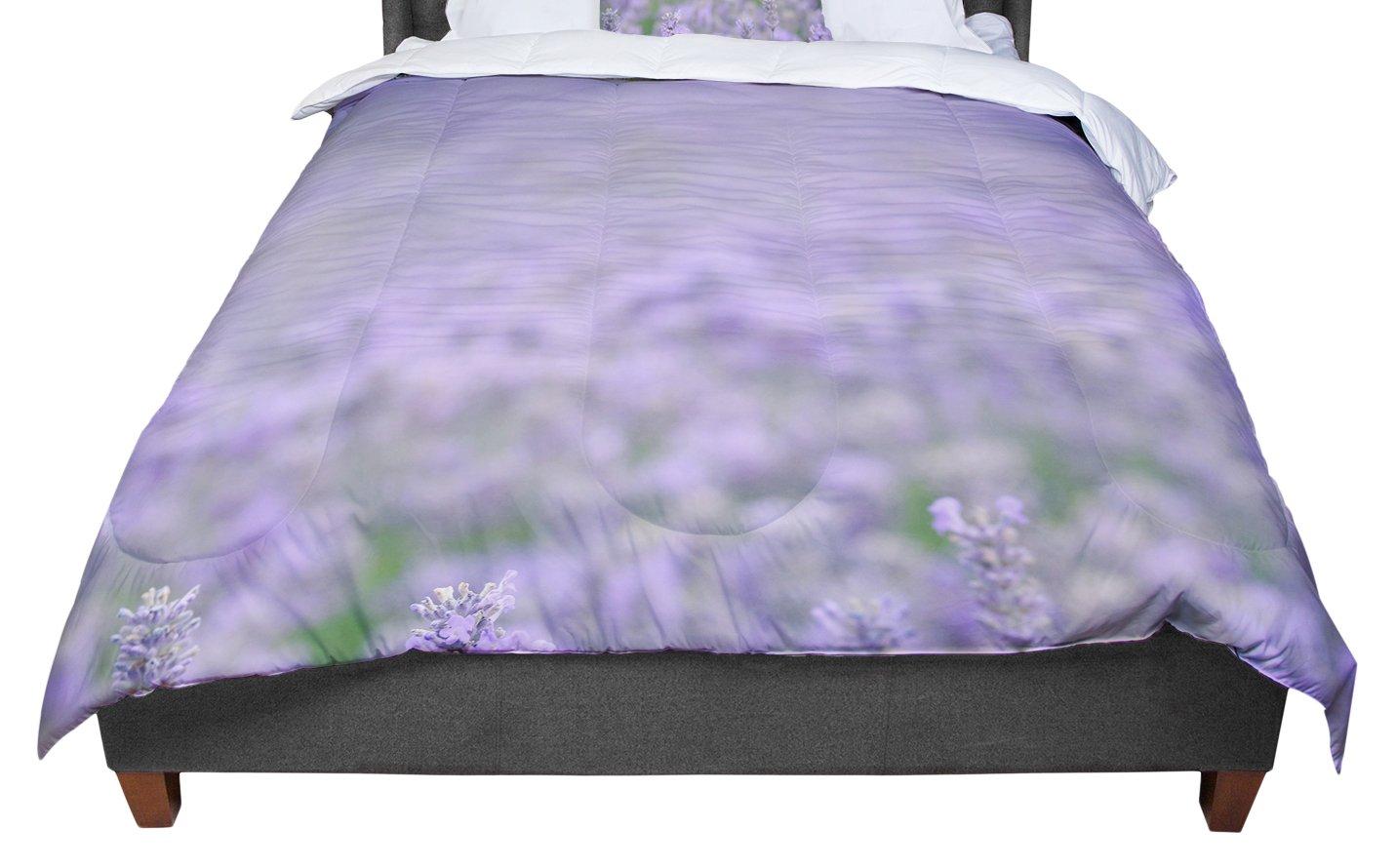 68 X 88 KESS InHouse Robin Dickinson Everywhere Lavender Purple Twin Comforter