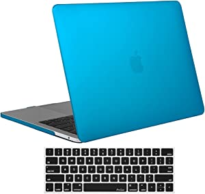 ProCase MacBook Pro 13 Case 2019 2018 2017 2016 Release A2159 A1989 A1706 A1708, Hard Case Shell Cover and Keyboard Skin Cover for MacBook Pro 13 Inch with/Without Touch Bar - Sky Blue