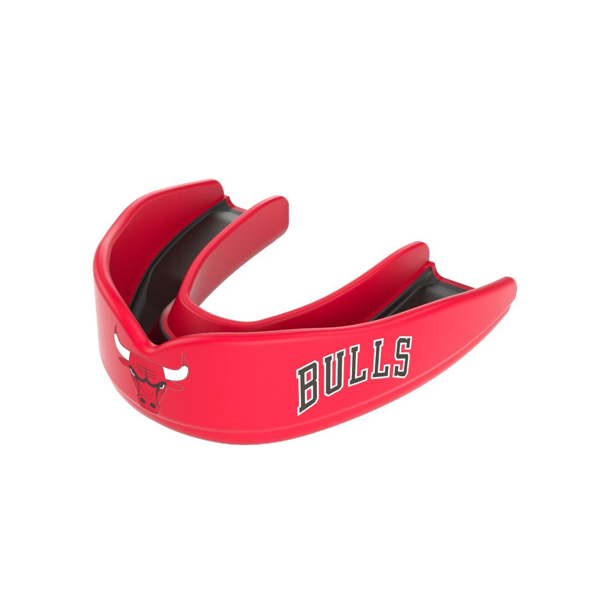 Shock Doctor 8300 NBA Chicago Bulls Basketball Mouth Guard, Red/Black, Youth