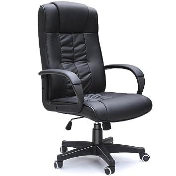 padded cow split leather high back office chair black amazon co rh amazon co uk