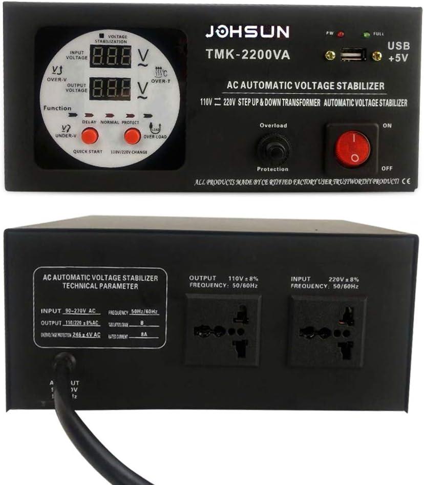 Yinleader Convertidor de Voltaje - Salida 110/220 Voltios CA ...