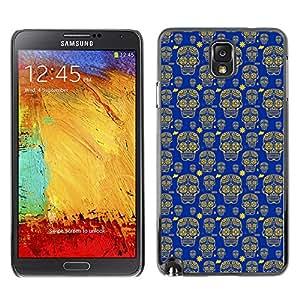 iKiki-Tech Estuche rígido para Samsung Galaxy Note 3 N9000 - Yellow Skull