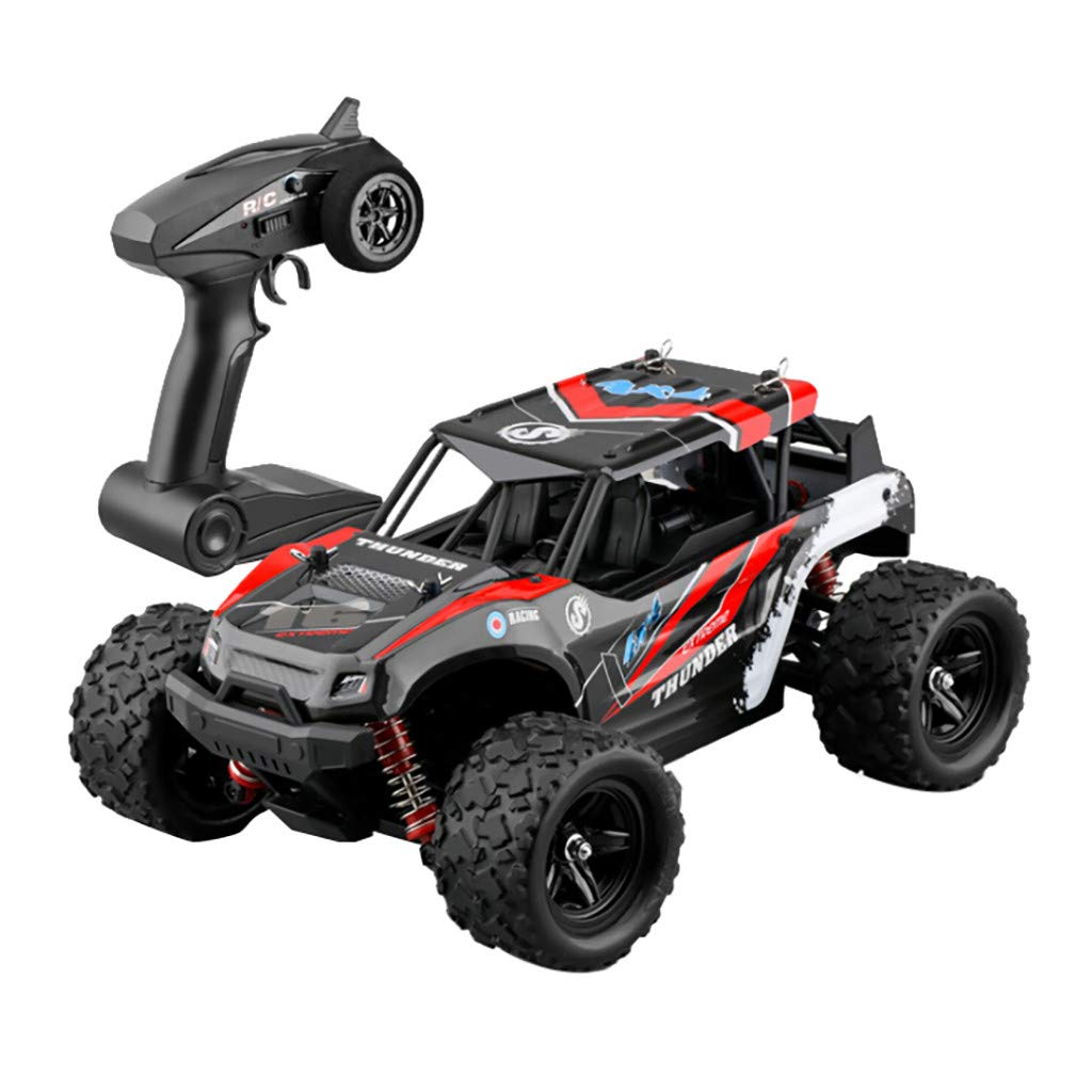 RC Cars Off-Road Rock Crawler Truck Vehicle 2.4Ghz 4WD 50km/H High Speed 1/18 Remote Control Racing Cars Fast Racing Buggy Hobby Car Off-Road Vehicle Toy