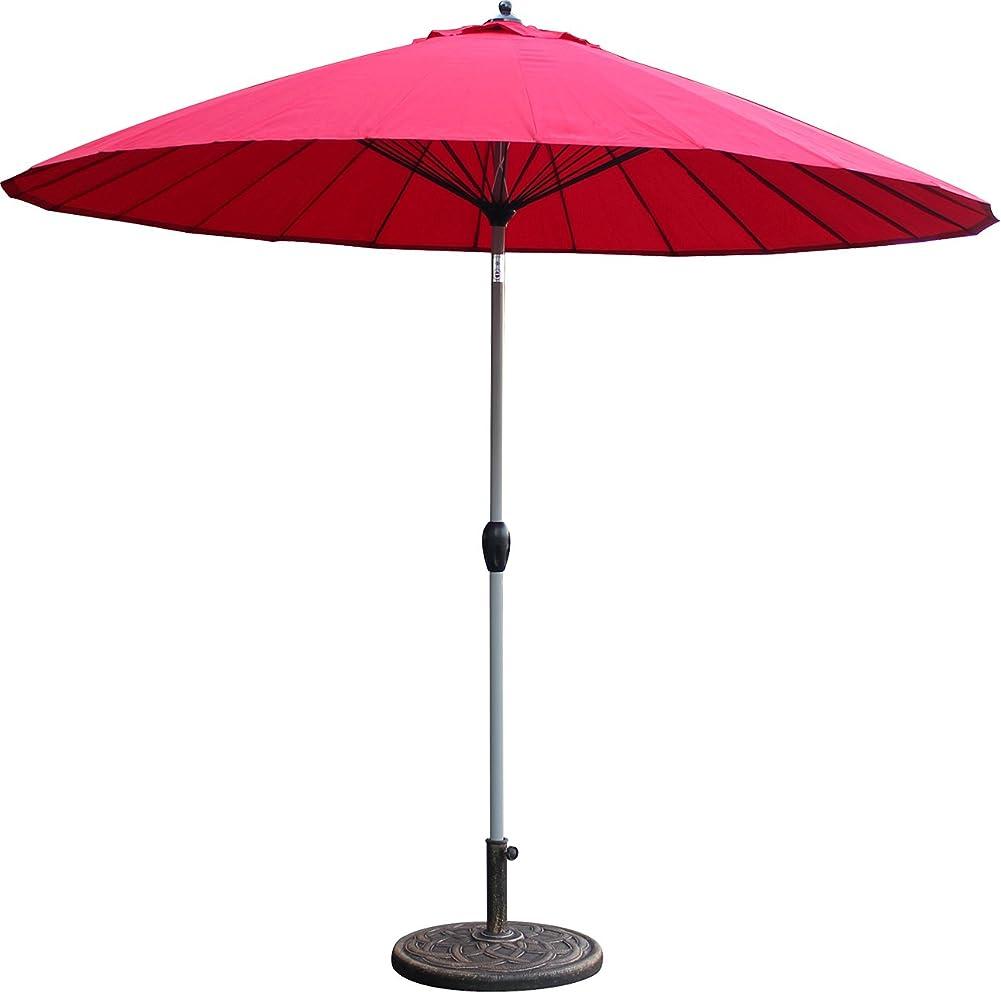 ぴったりもう一度不明瞭ガーデンパラソル セット パラソル 270cm ベース21kg 丸型 ビーチパラソル 傘 ガーデン パラソル ガーデニング カーデンファニチャー 庭 テラス アウトドア ビーチ キャンプ 日傘 折りたたみ 日よけ