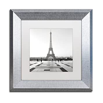Amazon.com: Tour Eiffel 4 by Alan Blaustein, White Matte, Silver ...