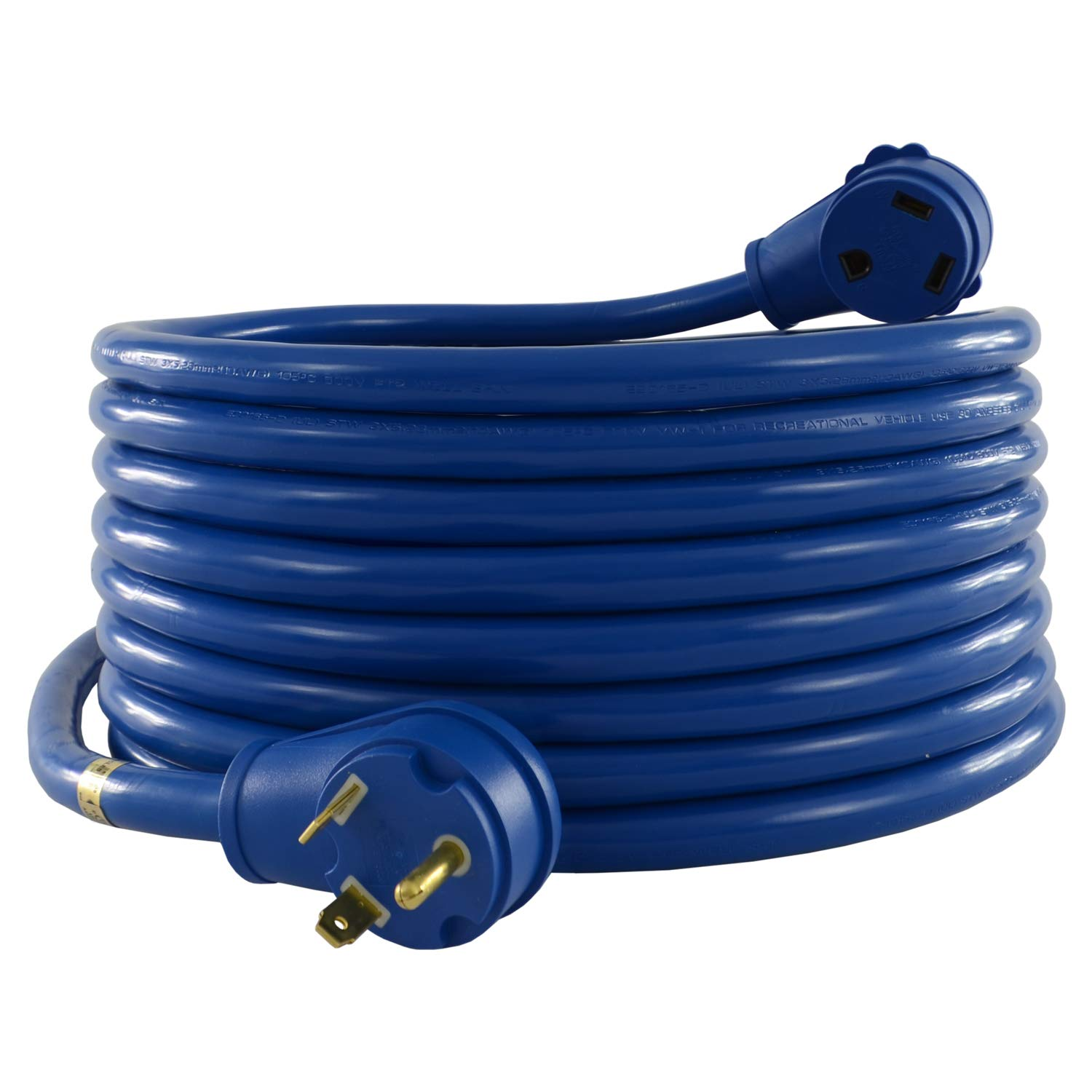 Conntek 14361, 30 Amp RV Extension Cord, Blue (25-Feet)