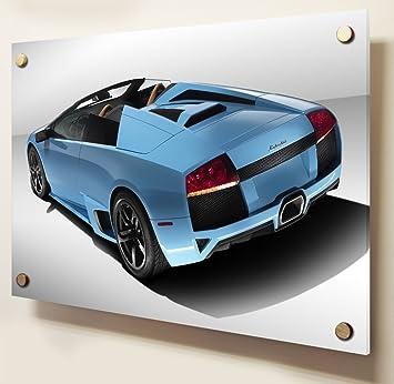 Lamborghini Gallardo Car Perspex Acrylic Art Print Size 24 X 16