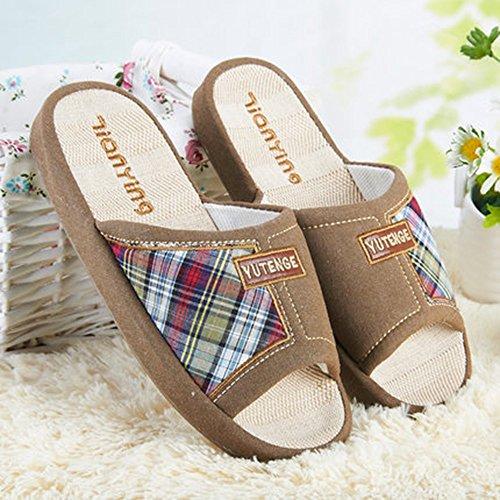 Cómodo Zapatillas de goma del verano de la casa de la habitación del hogar de las zapatillas de la zapatilla de deporte de los deslizadores de la parte inferior del piso de la parte inferior gruesa an E