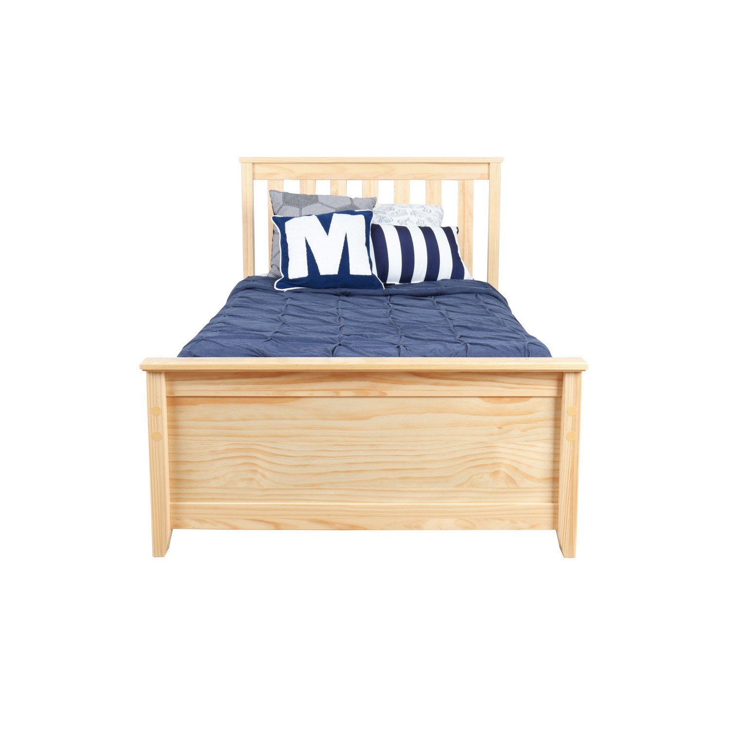 Max & Lily Solid Wood Twin-Size Bed with Under Bed Storage Drawers, Natural by Max & Lily (Image #4)