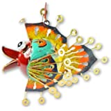 Hanging Metal Fish Ornament Tea light/Candle Holder - Tropical Fish Red Face