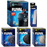Fluval 406 A217 Filter w/ Foam, Carbon, Ammonia Remover & Zeo-Carb 3mo