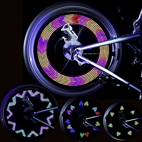 GOWEII 2 Pack Spoke Light Colorful Bright LED Bicycle Spoke Lights Bike Wheels Decoration