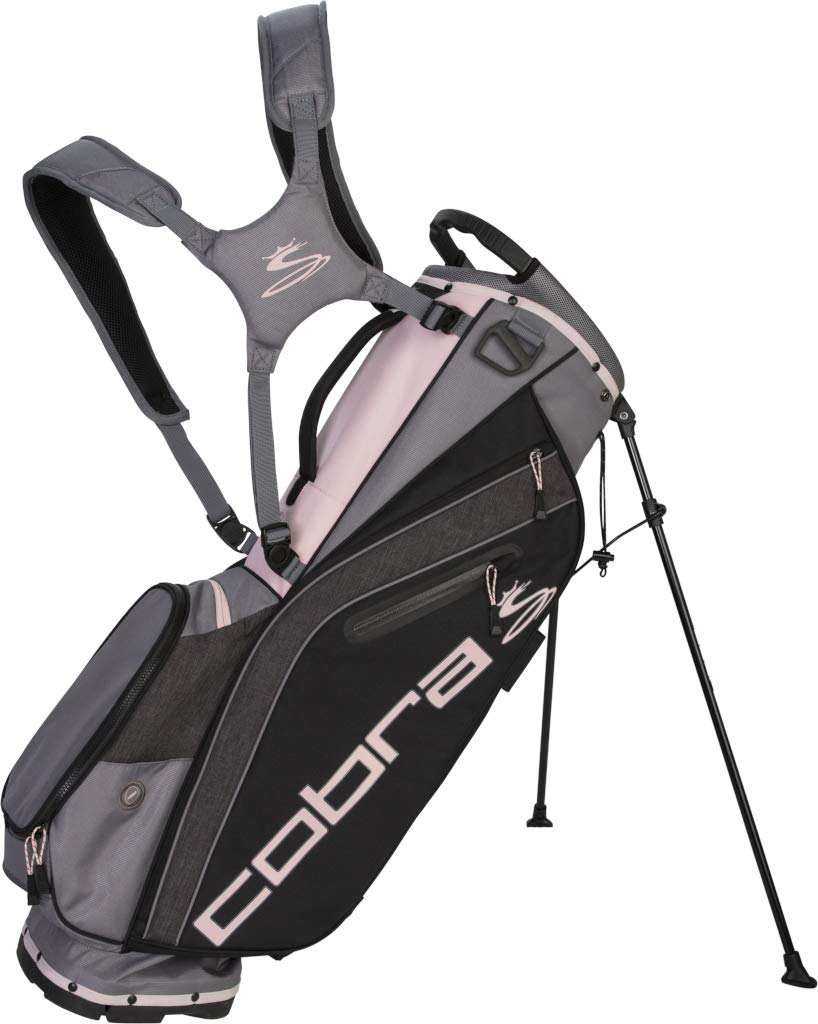 Cobra Golf 2019 Ultralight Stand Bag (Black-Pink) by Cobra
