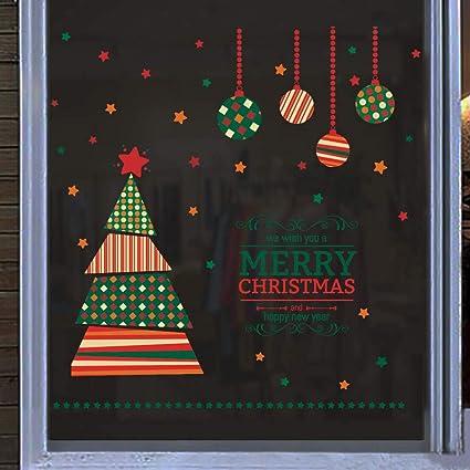 "wall decal sticker art. /""We Wish You A Merry Christmas/"" window Christmas Tree"