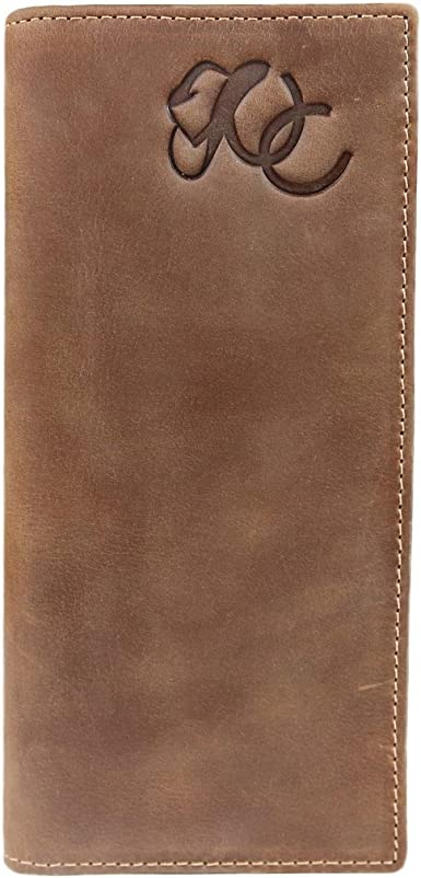 Ariat Mens Western Rodeo Wallet 12 Credit Card Holder Dark Copper