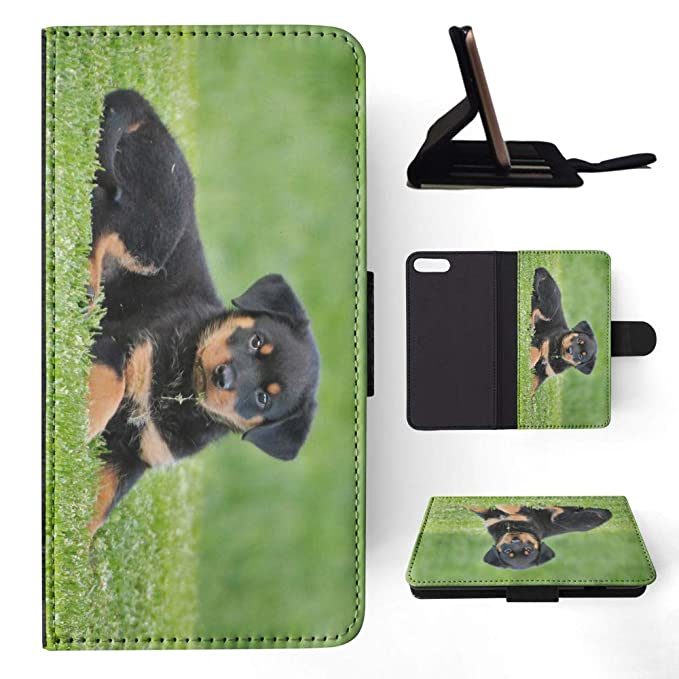 11f481aad698 Amazon.com  Rottweiler Dog 8 Flip Wallet Phone Case Cover for Apple ...
