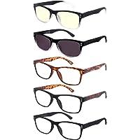 EFE leesbril 5-pack mannen vrouwen om te lezen Heldere bril Vergrotende lezing met veerscharnier Ontwerp Rechthoekige…