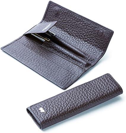 Braun Büffel Tough estuche bolis piel 16,5 cm: Amazon.es: Oficina y papelería
