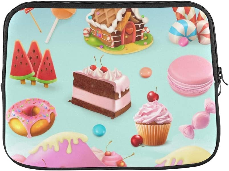 Amazon Com Design Custom Confectionery Desserts Cake Cupcake Candy Lollipop Sleeve Soft Laptop Case Bag Pouch Skin For Macbook Air 11 2 Sides Computers Accessories
