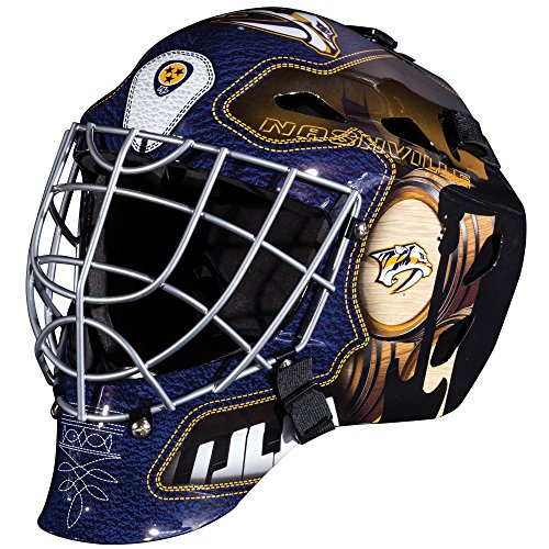 Franklin Sports Nashville Predators Goalie Mask - Team Graphic Goalie Face Mask - GFM1500 Only for Ball & Street - NHL Official Licensed Product