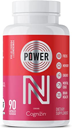 Power On Nootropic Supplement, 45 Capsules (15-Day Supply)