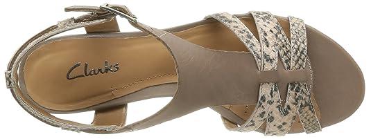Clarks Playful Club 20358050 - Sandalias de cuero para mujer, color marrón, talla 37.5