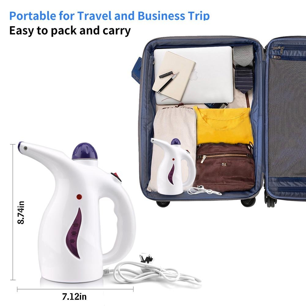 Clothes Steamer,Fabric Steamer Fast-Heat Portable Handheld Powerful Travel Garment with High 200ml High Capacity Perfect Home and Travel