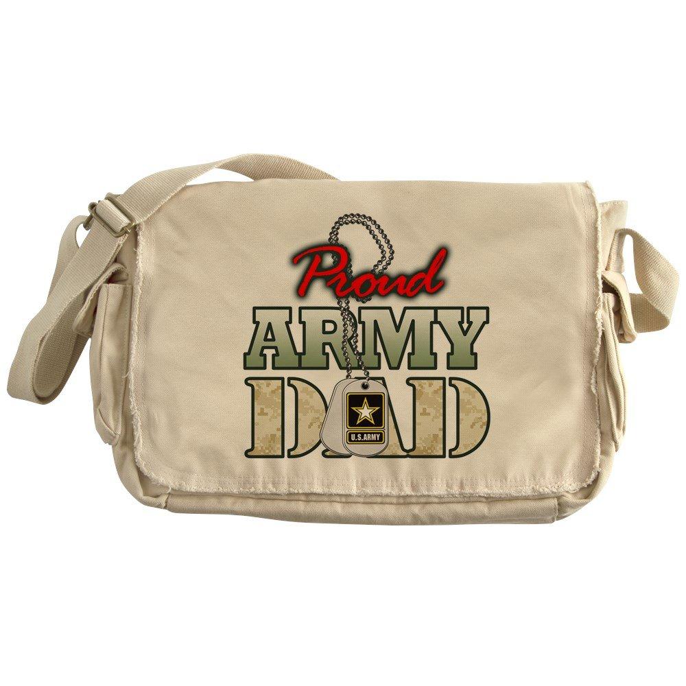 Royal Lion Khaki Messenger Bag Proud Army Dad