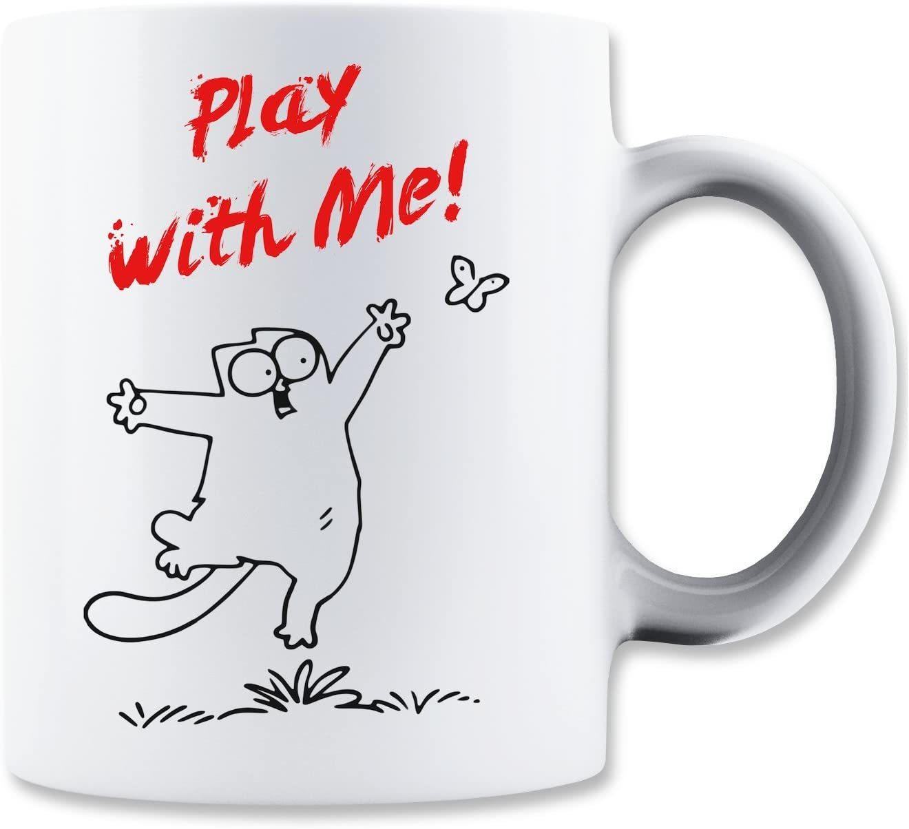 Play With Me Simons Cat Mug