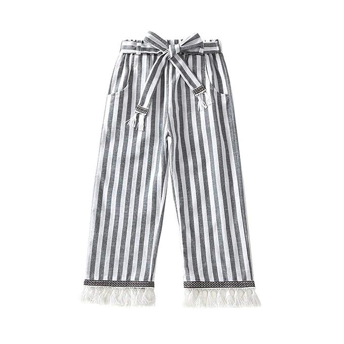 Amazon.com: Hunzed - Pantalón para niños, diseño de rayas ...