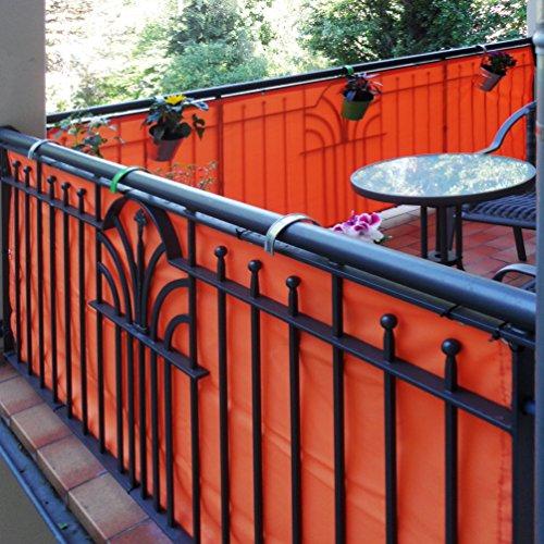 JAROLIFT Copertura Per Balcone Idrorepellente, Telo Di Rivestimento E  Protezione Per Balcone 500 X 90cm (24 Occhielli), Antracite: Amazon.it:  Giardino E ...