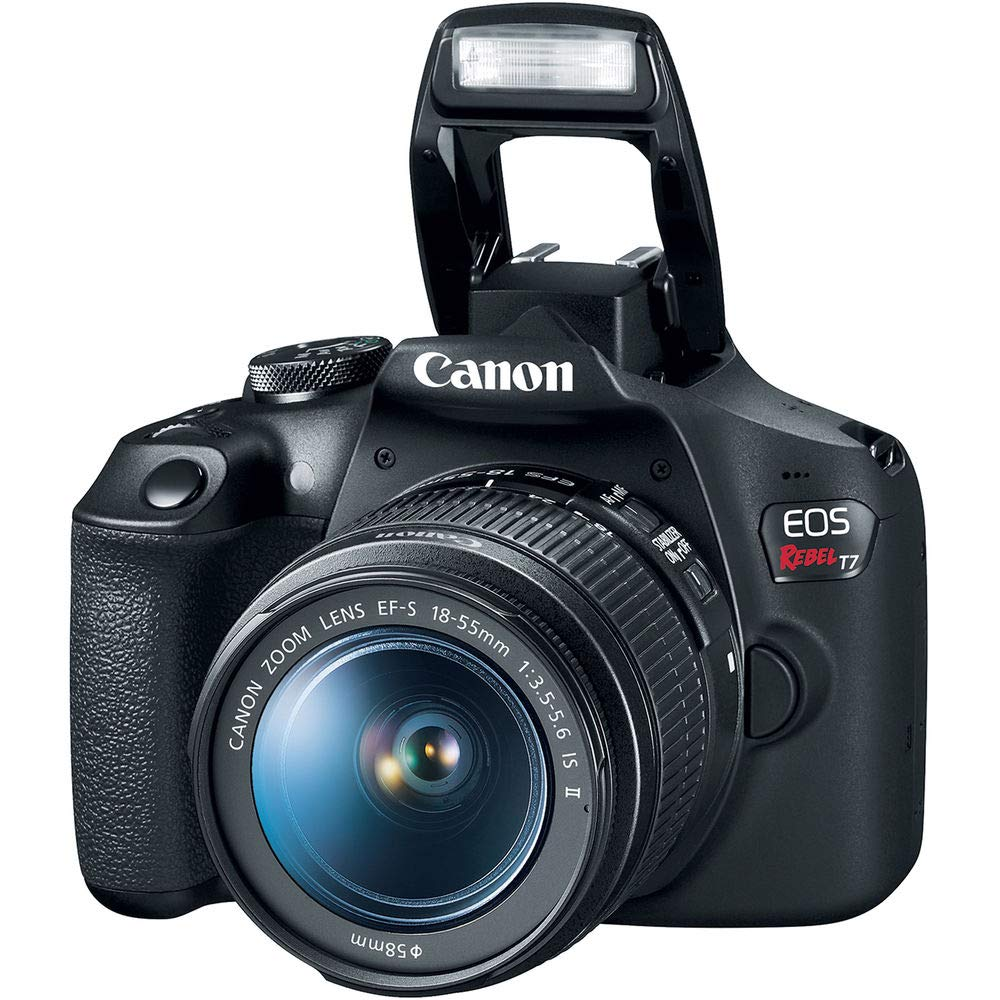 Canon EOS Rebel T7 24MP Camera + EF-S 18-55mm is II Lens (Successor for EOS Rebel T6) + 96GB + 57'' Tripod+ Camera Bag+ Cleaning Kit+ + 58mm 2X Professional Telephoto & 58mm Wide Angle Lens &More by Canon (Image #2)