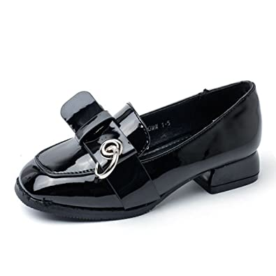 d8ccef3e40ea Amazon.com | CYBLING Kids Fashion Patent Leather Slip On Spring Oxfords  Shoes Girls Sweet Cute Bow Loafers Shoes | Shoes