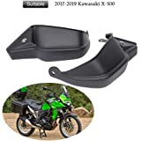 FATExpress Motorcycle Black Steel Aftermarket Engine Guard Crash Bar Frame Protection Side Protector Cage Bumper for 2017-2018 Kawasaki Versys X 300 Versys-X KLE300 17-18