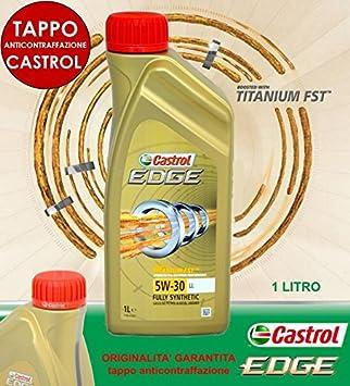 Aceite para motor Castrol Edge 5W30 FST C3 Longlife VW 504.00 507.00 MB 229.31 (1 litro): Amazon.es: Coche y moto