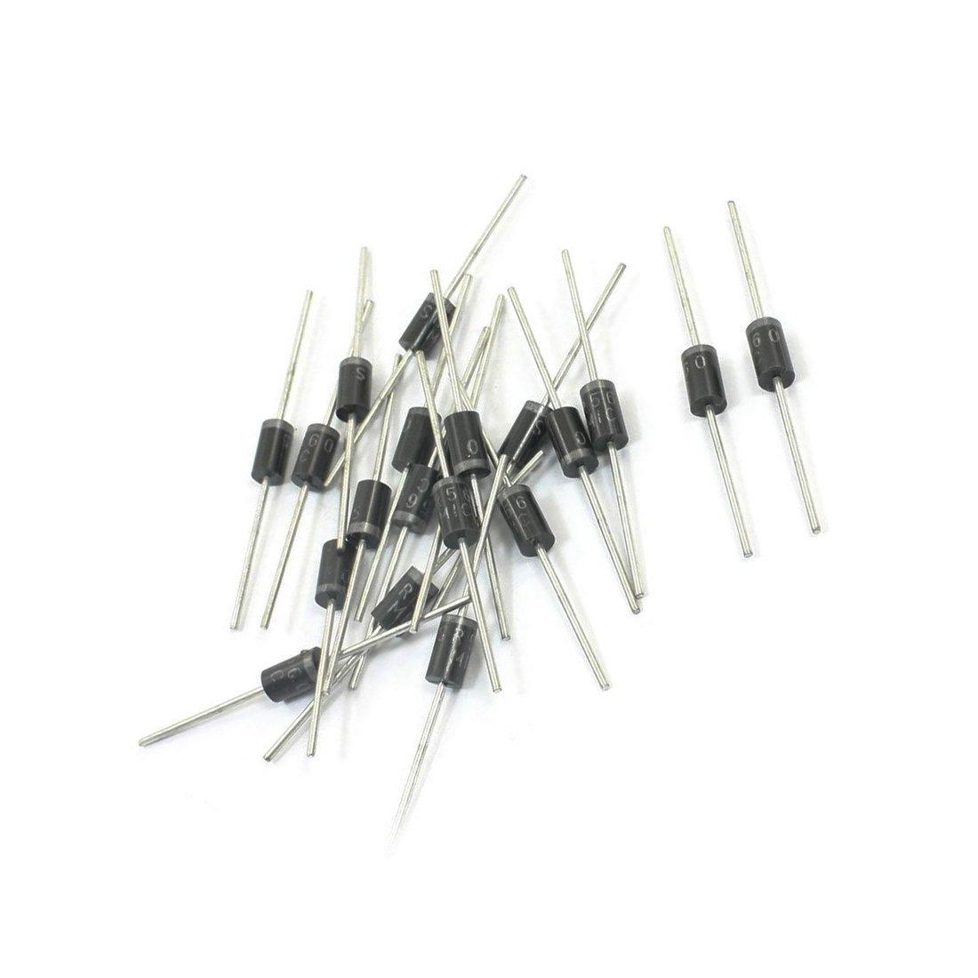 Gaoominy 20 Stueck Durchgangsbohrung Montage Schottky-Diode Barrier Gleichrichterdiode 60V 5A SR560