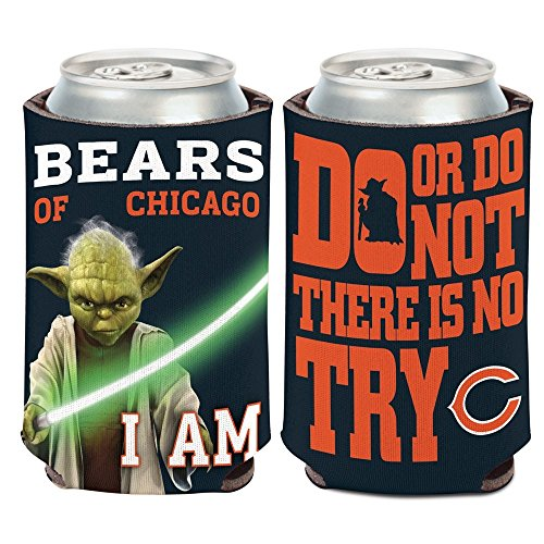 Wincraft NFL Star Wars Yoda 12 Ounce Can Coozie (Chicago Bears) -