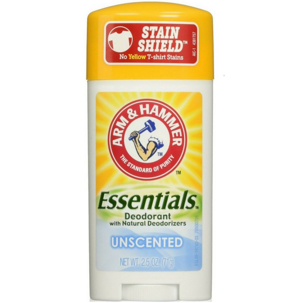 Arm & Hammer Essentials Natural Unscented Deodorant -2.5 oz (Quantity of 5) by Arm & Hammer