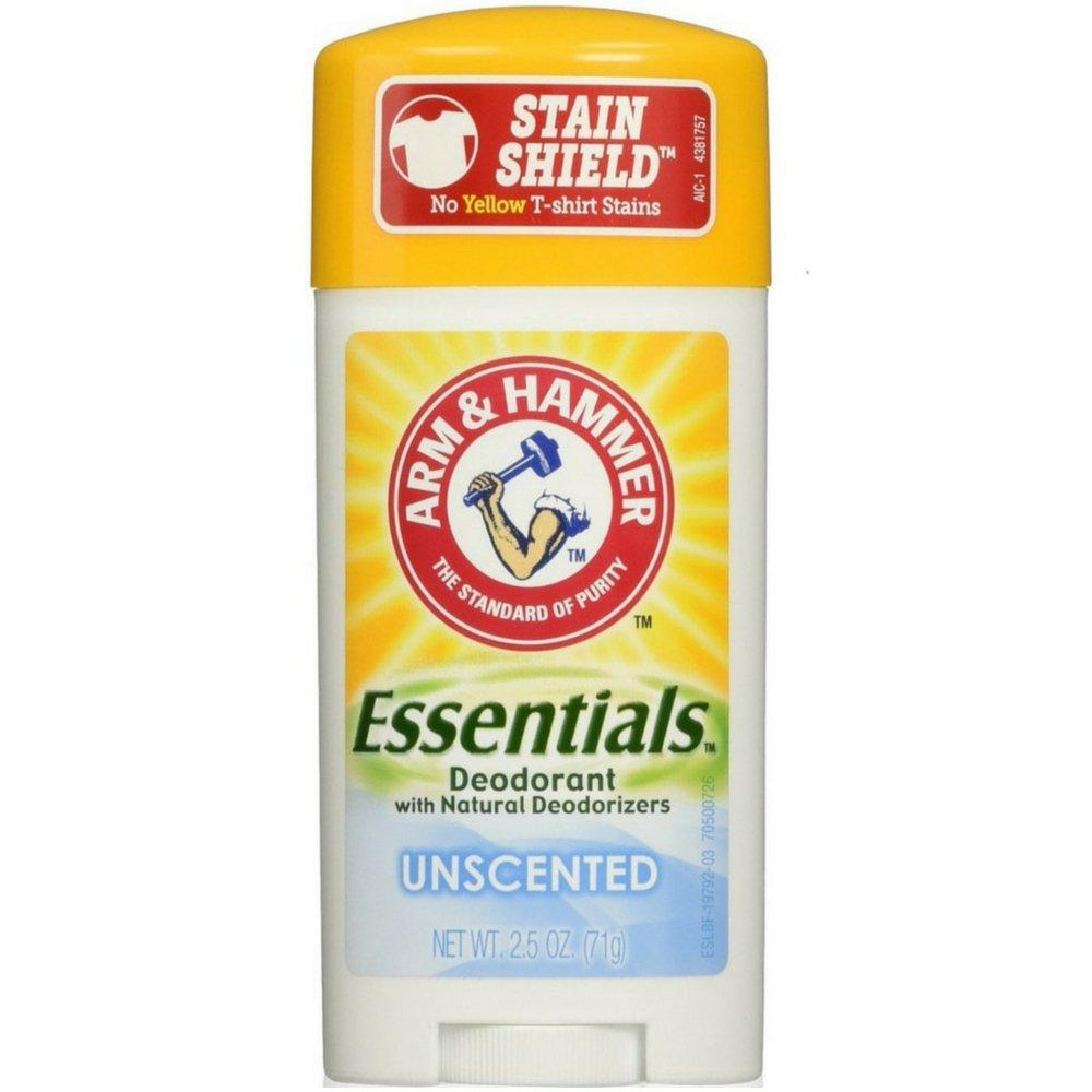 ARM & HAMMER Essentials Natural Deodorant Unscented 2.50 oz (Pack of 8)