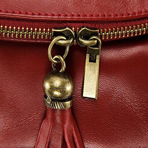 OH cuir BAG Main Rouge Fonce souple Modèle heures Sac à petit MY 72 XSAwx6qrZX
