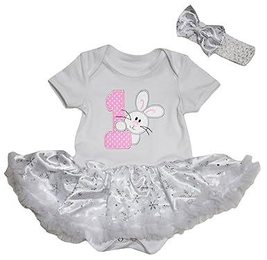 4695d48d2 Petitebelle 1st Bunny White Bodysuit White Snowflake Baby Dress Nb ...