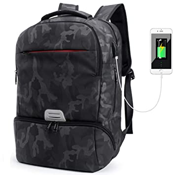 Mochila portátil 15.6 Mochila de Ordenador portatil de Negocios Impermeable Multifuncional Daypacks,Camuflaje: Amazon.es: Equipaje
