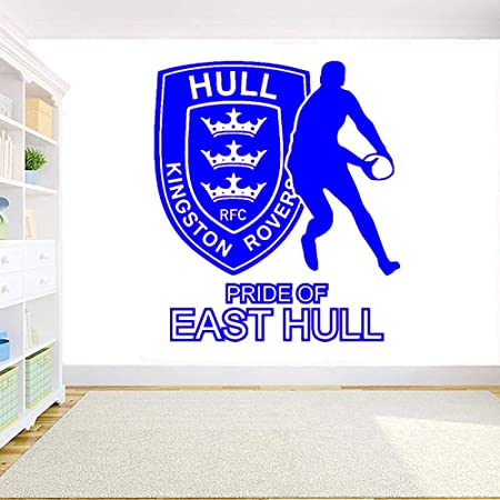 yaoxingfu Hull Kingston Rovers Rugby Wall Art Sticker Vinilo Rugby ...