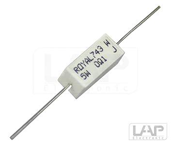 5x 220 Ohm 3 Watt 5/% Metalloxidwiderstand Widerstand 3W MOX Widerst/ände Hochlast