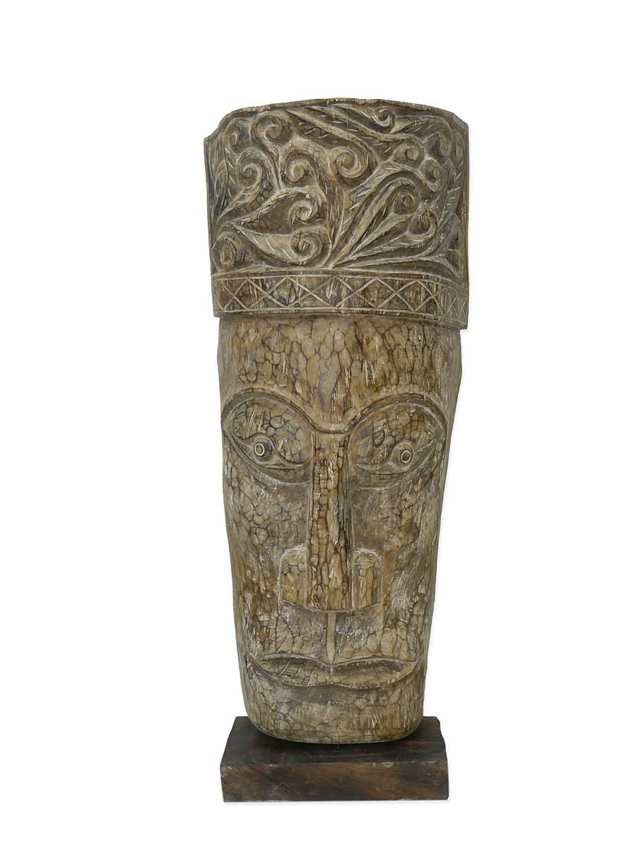Schöne Skulptur Holzmaske Massivholz Handarbeit