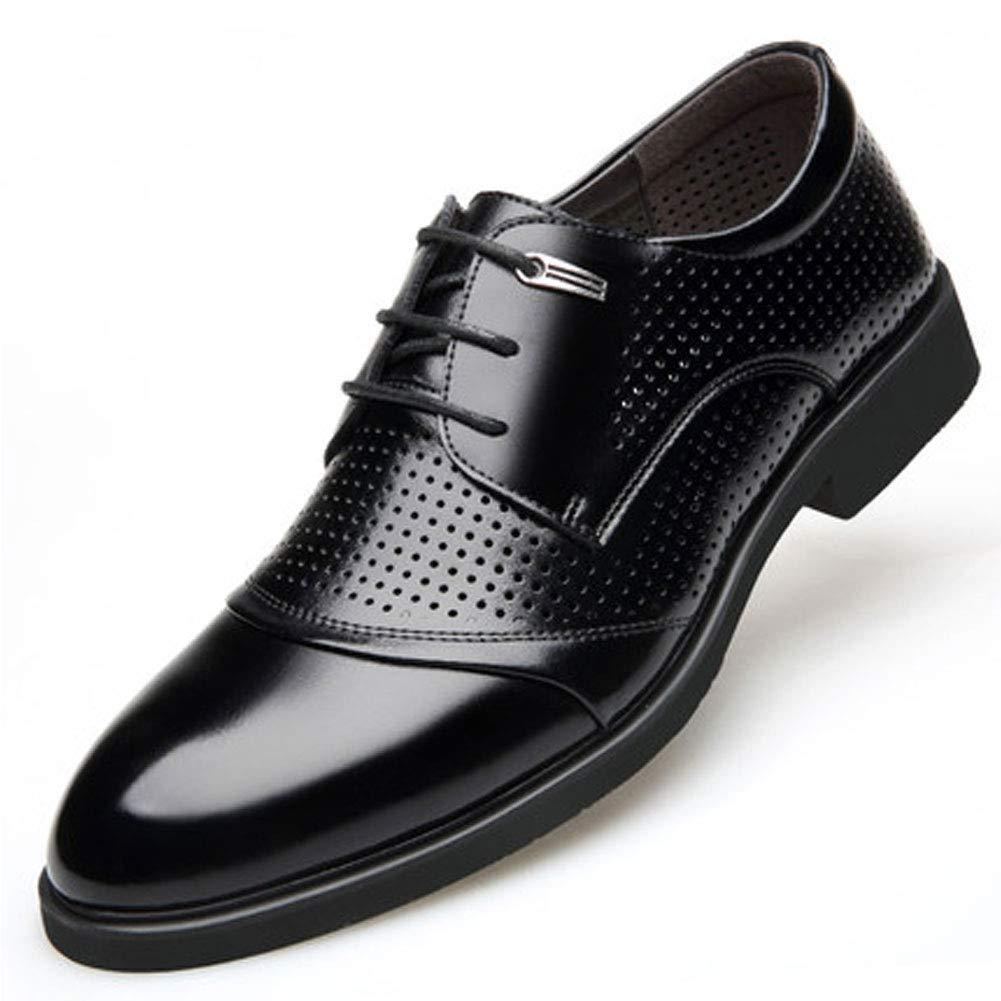 Mens Nouveau Casual Cuir Noir Intelligent Chaussures à Lacets Formels Chaussures d'affaires Oxford