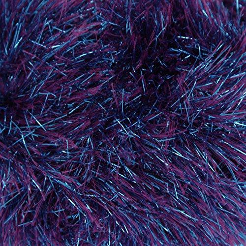 (King Cole Tinsel Chunky Two Tone Knitting Yarn Sparkle Eyelash Wool 1 x 50g (Sparkler - 1784))
